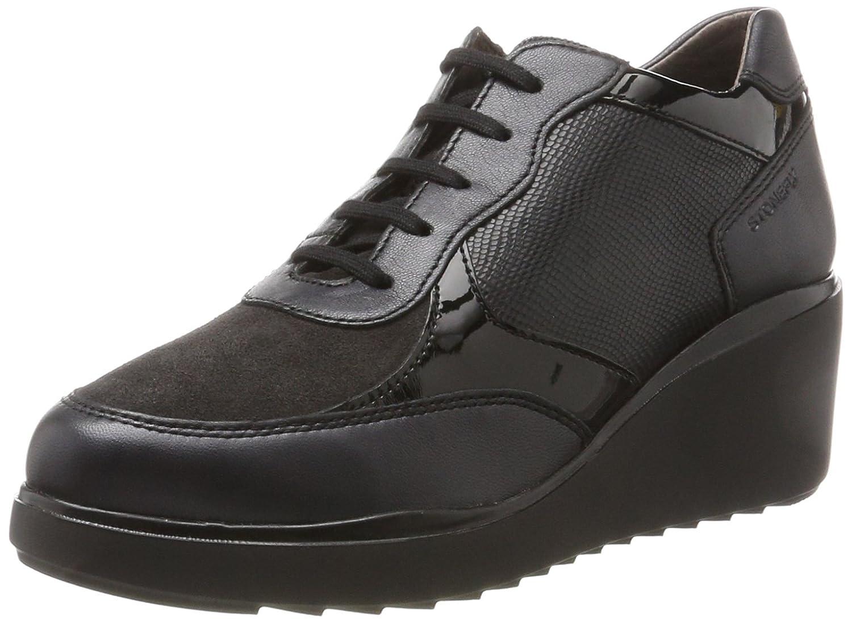 Stonefly Eclipse 3 Pearl/Vel, Zapatos con Plataforma para Mujer 36 EU Negro (Nero/Black)