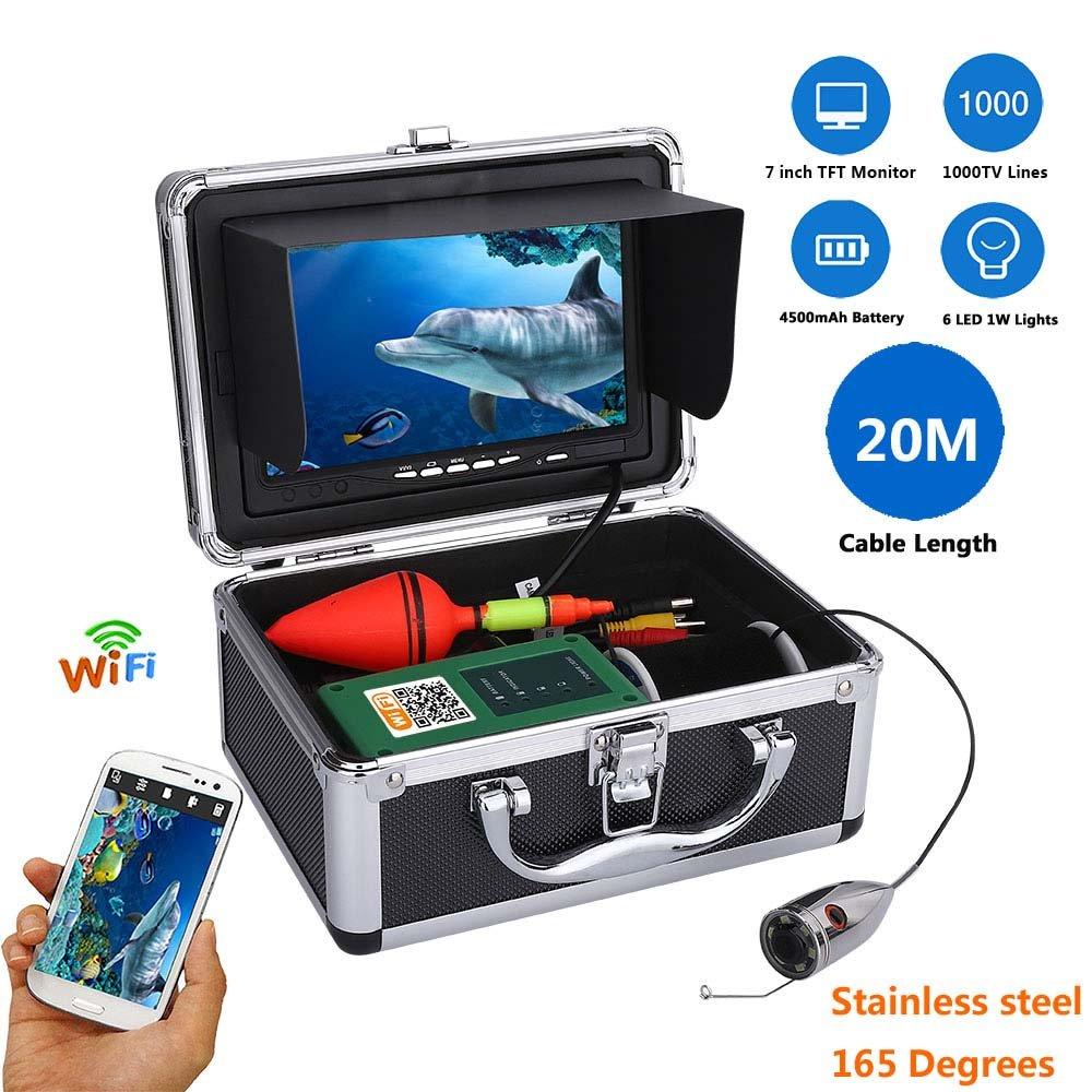 水中フィッシュファインダー HD 水中カメラ7インチ TFT カラーディスプレイ1000tvl 水中釣りカメラキット (20m)   B07P1XKKXG