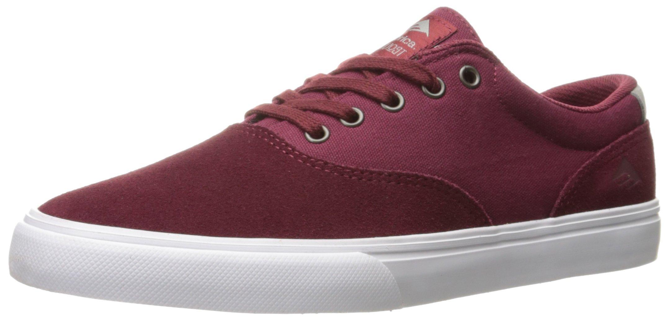 Emerica Provost Slim Vulc Skate Shoe,Burgundy,10.5
