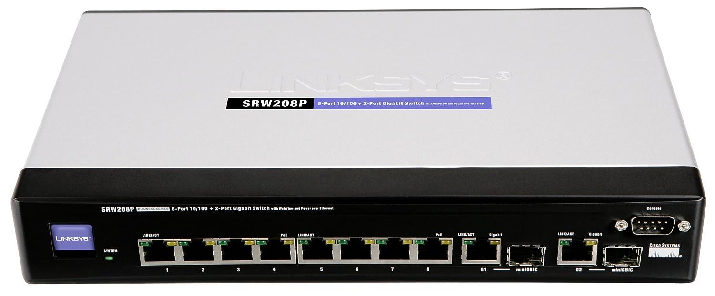 Linksys by Cisco SRW208P 8-Port 10/100 Ethernet Switch - WebView/PoE