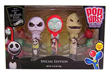 09d1d95bed5 Tim Burton s The Nightmare Before Christmas 25th Anniversary Special  Edition 3 Piece Pop Ups Lollipops Set