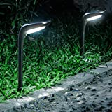OSORD Outdoor Solar Pathway Lights, 【4 Pack】Waterproof 2-in-1 Solar Powered Wall Light Landscape Lighting Auto On/Off with 2
