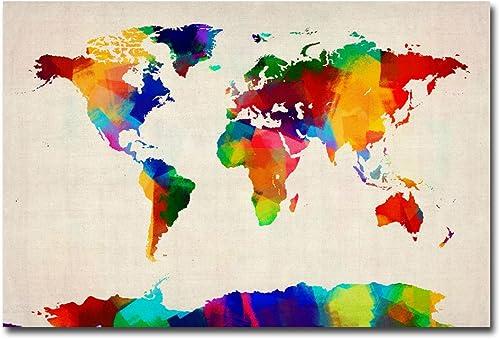 Sponge Painting World Map