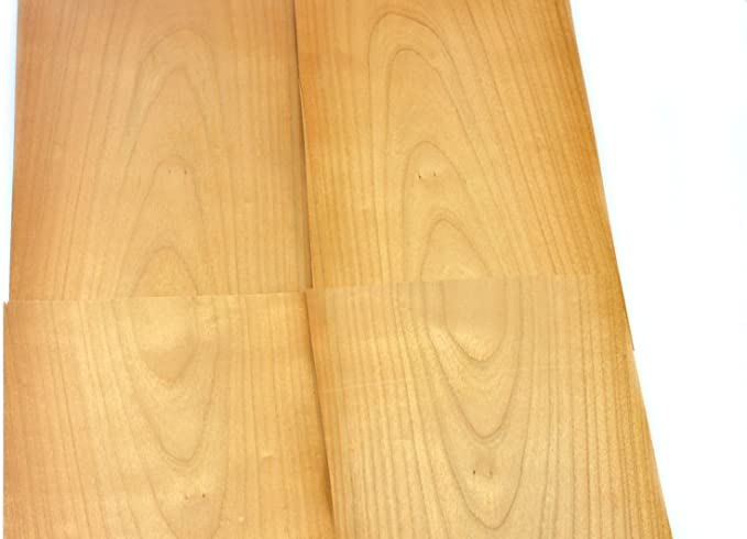 wodewa Placage de Bois 2mm Lot de 5 Plaques 30x14cm Zirbe Feuille de Placage Bois Panneau Bois Massif pour Bricolage bricoler Mod/élisme