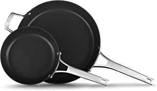 product image for Calphalon Premier Hard-Anodized Nonstick 2-Piece 8 12-Inch Frying Pan Set, 8/12 combo, Black