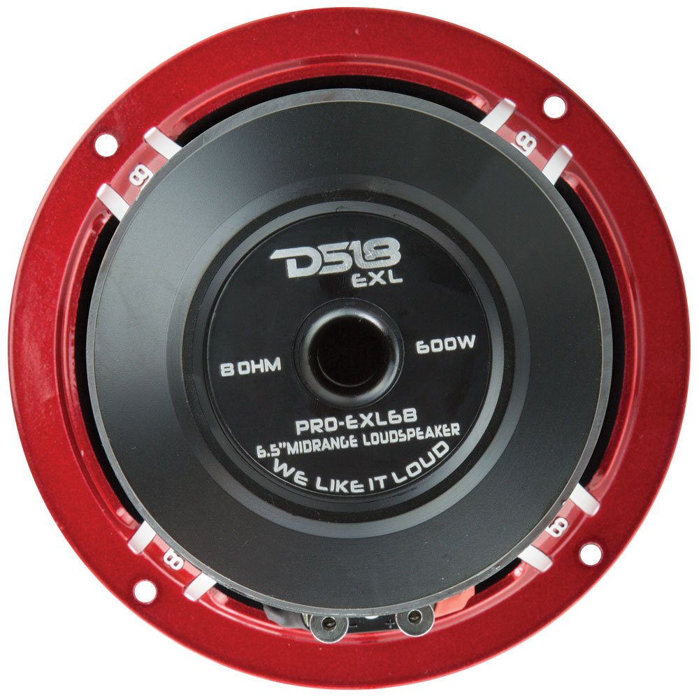 DS18 PRO-EXL68 Loudspeaker - 6.5'', Midrange, Red Aluminum Bullet, 600W Max, 300W RMS, 8 Ohms, Ferrite Magnet - For the Peple Who Live and Breathe Car Audio (1 Speaker) by DS18 (Image #5)