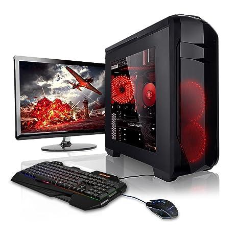 Megaport PC de gaming, equipo completo, AMD FX-8320E 8 núcleos de 4.00 GHz turbo, tarjeta gráfica GeForce GTX970 ...