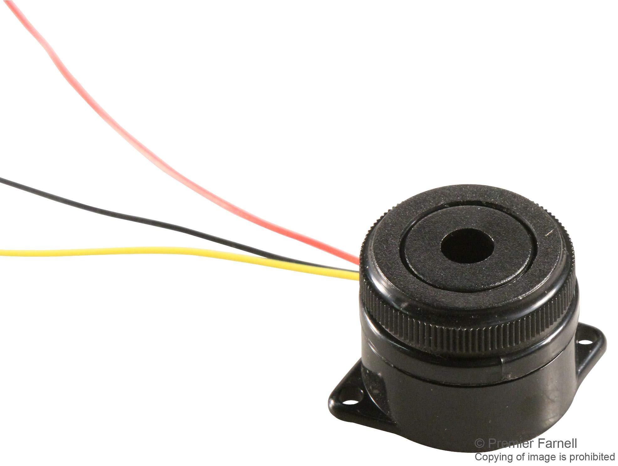 MCKPI-G2913L-3973 - Transducer, Piezo, Buzzer, Buzzer, Continuous, Slow Pulse, 3 V, 24 V, 15 mA, 90 dB (MCKPI-G2913L-3973) (Pack of 20) by MULTICOMP