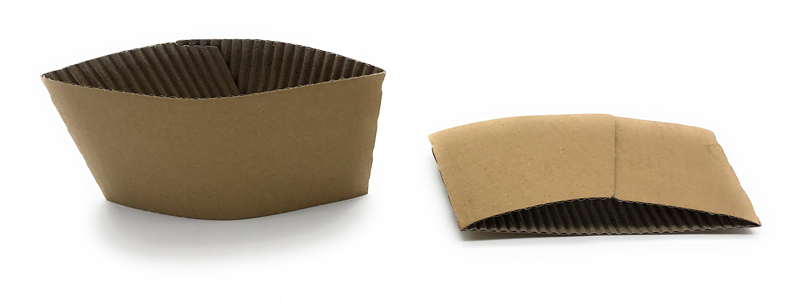 [5950 Count] Disposable Corrugated Hot Cup Sleeves Java Jackets - Natural compostable Kraft Color Cup Sleeve Protective Heat Insulation Paper Plastic Cups hot Coffee Tea Chocolate Drinks Insulated by Harvest Pack (Image #2)
