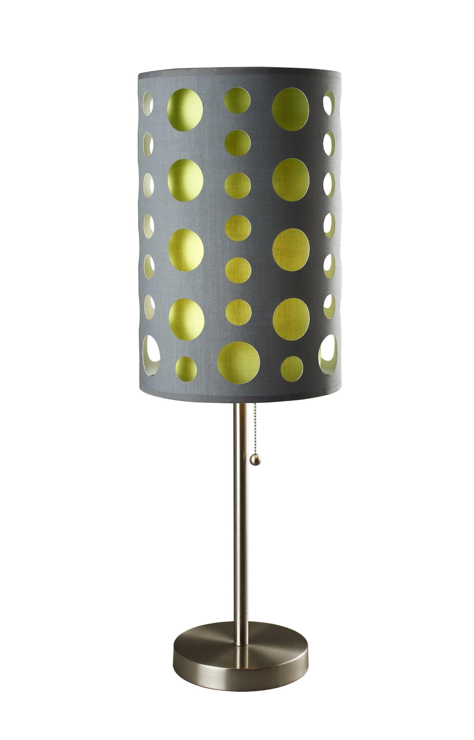 Ore International 9300T-GY-GN Modern Retro Table Lamp, 33-Inch, Grey/Green