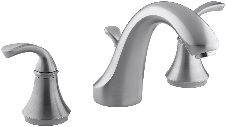 KOHLER K-T10292-4-BN Forte Deck-Mount Bath Faucet Trim, Vibrant ...