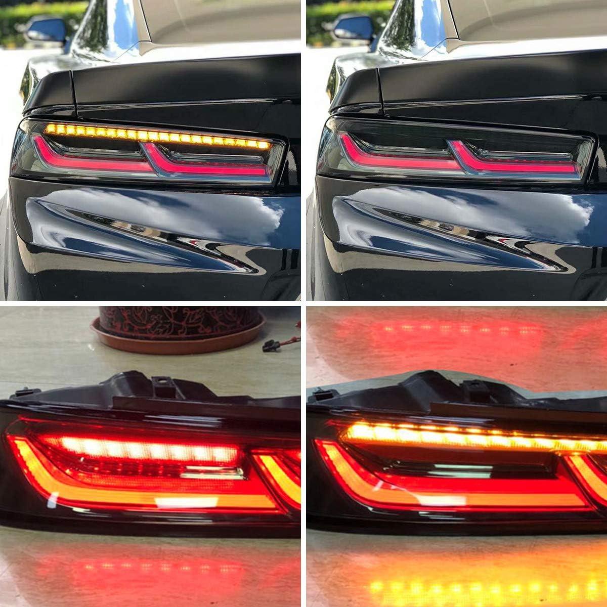 VLAND R/ücklicht f/ür Camaro 6th Gen 2015-2018 LED Bar R/ückleuchten Set mit dynamischer