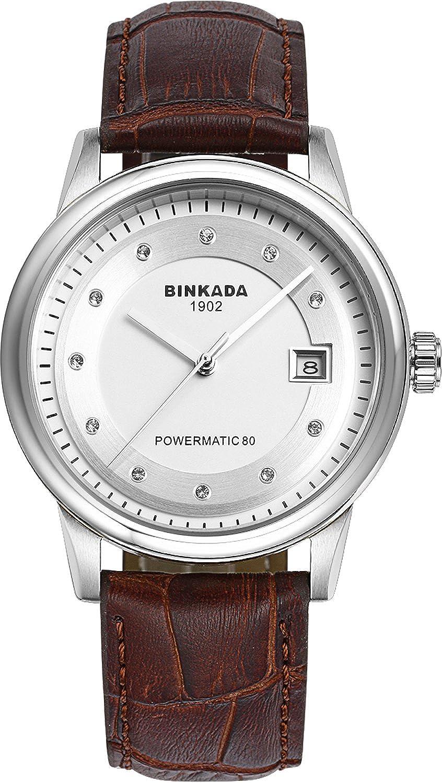 BINKADAクラシック自動機械ホワイトダイヤルメンズ腕時計# 708902 – 1 B01DZLU49M