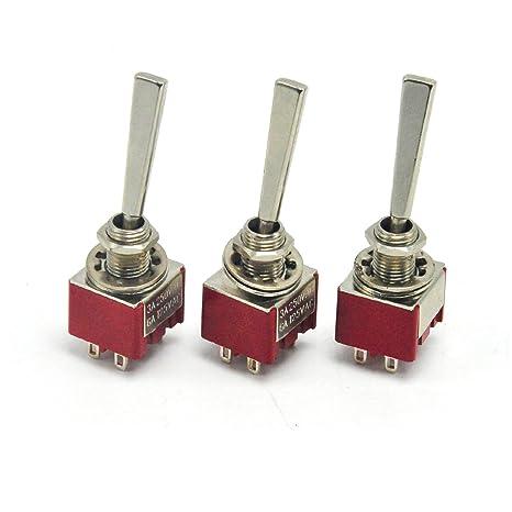 Amazon.com: 3 piezas de potencia interruptor de palanca ...