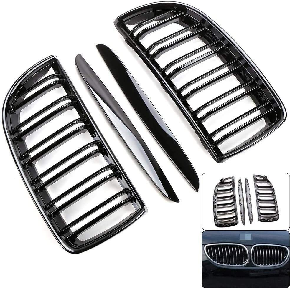 LLL For BMW 3-Series E90 E91 2006-2008 Pre-facelift Gloss Black Kidney Grill Grille