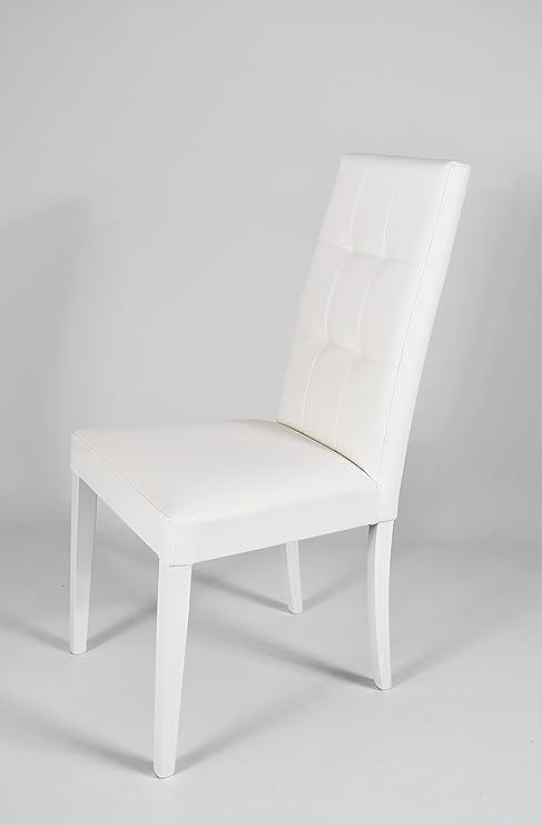 Set 2 sedie per cucina, sala da pranzo, moderne, con robusta struttura in  legno di faggio, seduta e schienale imbottiti e rivestiti in ecopelle ...