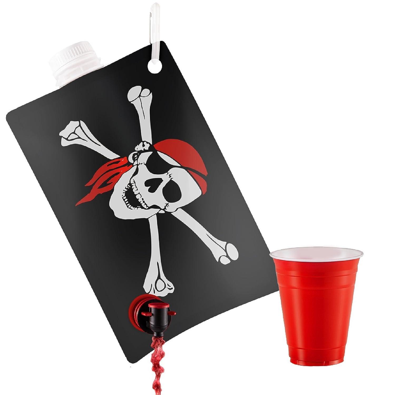 【限定製作】 海賊旗パーティーフラスコ、Holds 2リットル、パーティーLike a Pirateハロウィンにボート、テーマ、パーティ B075JN7HTM More、and More B075JN7HTM, URBAN RESEARCH/アーバンリサーチ:b3b934d9 --- a0267596.xsph.ru