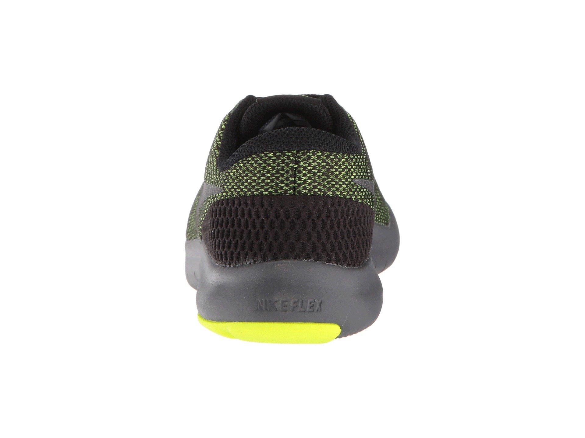 Nike Kids Flex Experience RN 7 (GS) Running Shoes (3.5 Big Kid M, Black/Metallic Dark Grey/Volt/Dark Grey) by Nike (Image #3)