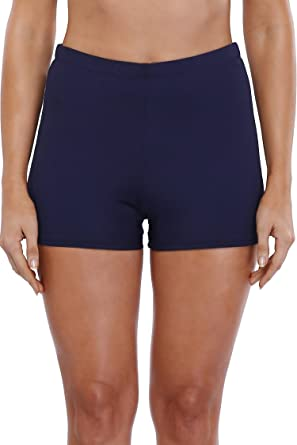 0a6f1ef82a Anfilia Women's Boyleg Swim Shorts Swimming Boy Shorts Bikini Tankini  Bottoms Drawstring Swimwear