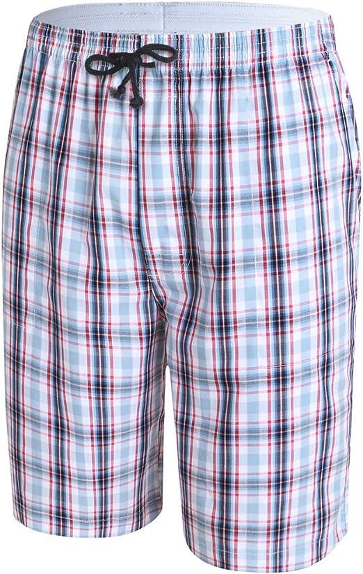 JINSHI Men/'s 2 Pack Pajama Shorts Elastic Waist Lounge Sleep Shorts with Pockets