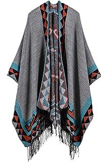 e701dc35adc0 La Femme Est Vintage Surdimensionnée Tassel Hiver Wrap Châle Poncho  Couverture Cape Cardigans Écharpe