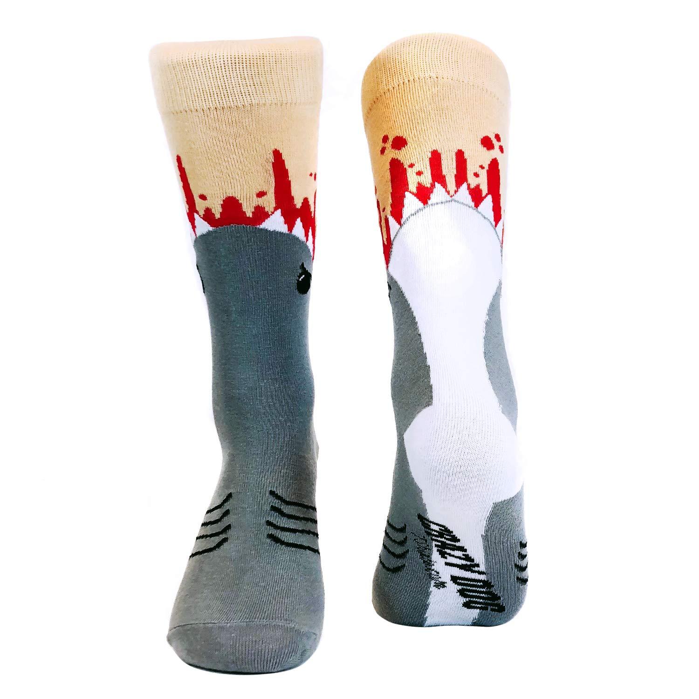 Shark Attack Socks Funny Jaws Bite Casual Footwear