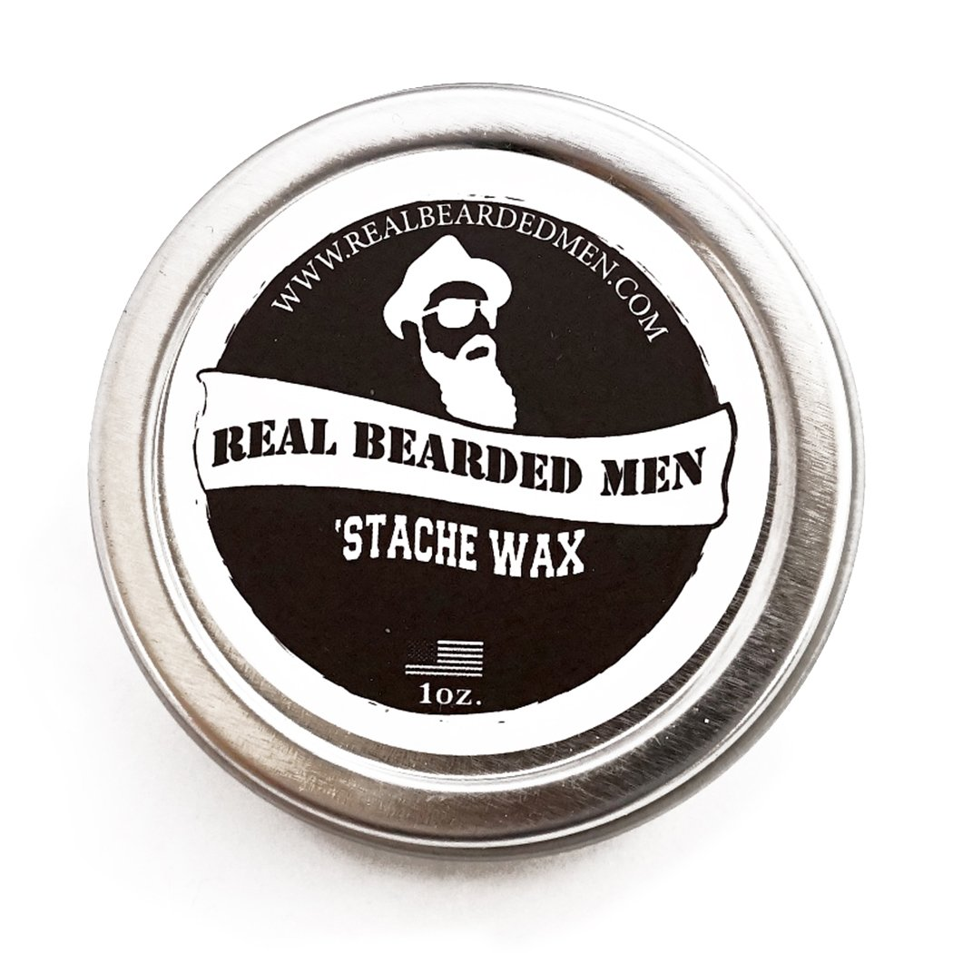 Mustache Wax (Sage Scent) - 1 oz Stache Wax - Real Bearded Men All Natural 100% Made in USA