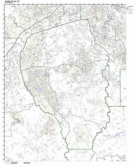 Amazon Com Fayette County Georgia Ga Zip Code Map Not Laminated