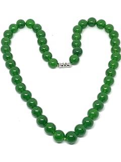 Lachineuse COLLIER CLASSIQUE Perles de Jade - Symbole de Beauté et ... 230ad4af8f6b