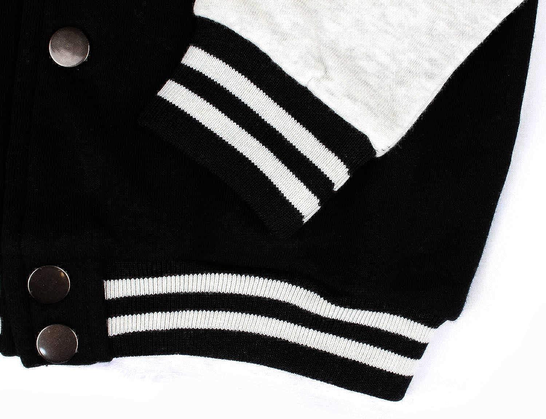 TAHTATJ Kids Toddler Black 100/% Cotton Winter Sweatershirt Baseball Jackets Cozy