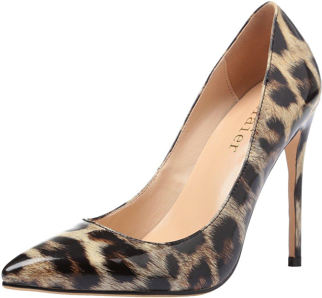 Calaier Mujer Caelse Tacón De Aguja 12CM Sintético Ponerse Zapatos de tacón 44 EU|Varios Colores