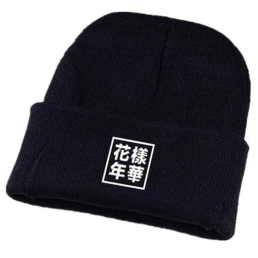 174caa7cfe5 Amazon.com  Dolpind Kpop BTS Beanie BTS Bangtan Knitted Hat (One ...