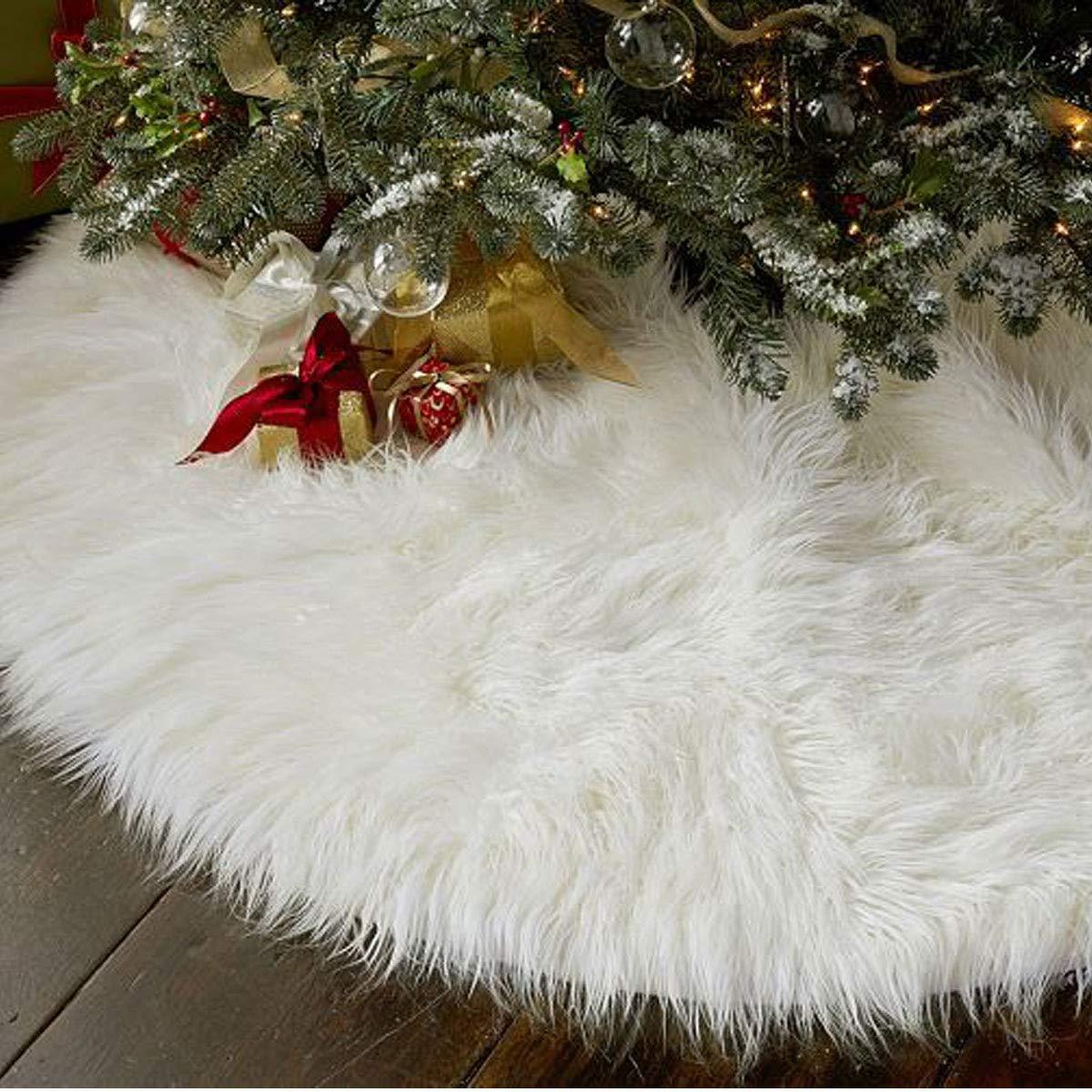 78cm Kompassswc Schneewei/ße Pl/üsch Weihnachtsbaumdecke Christbaumst/änder Teppich Decke Kunstfell Christbaumdecke Weihnachtsbaum Rock Tannenbaum Unterlage