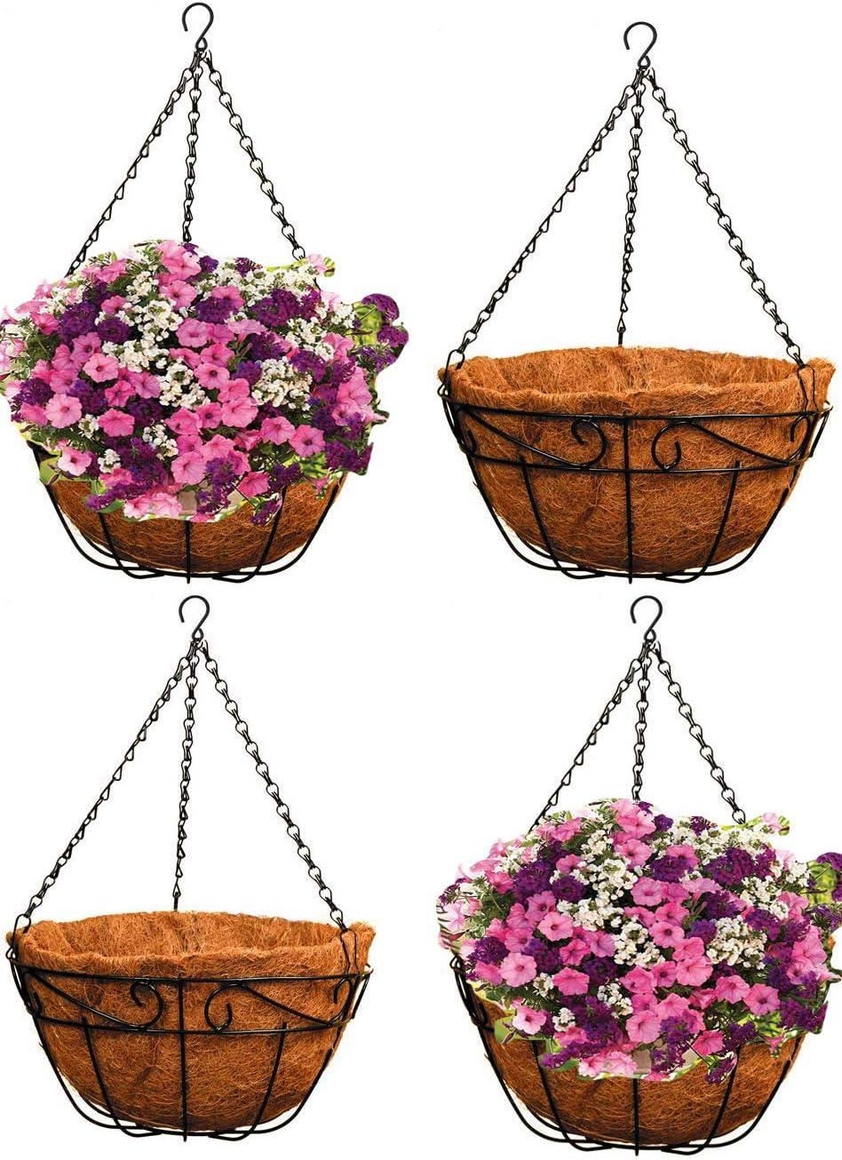 Wall Hanging Flower Pots Garden Balcony Basket Plant Pot Planter Ship Decor B5M8