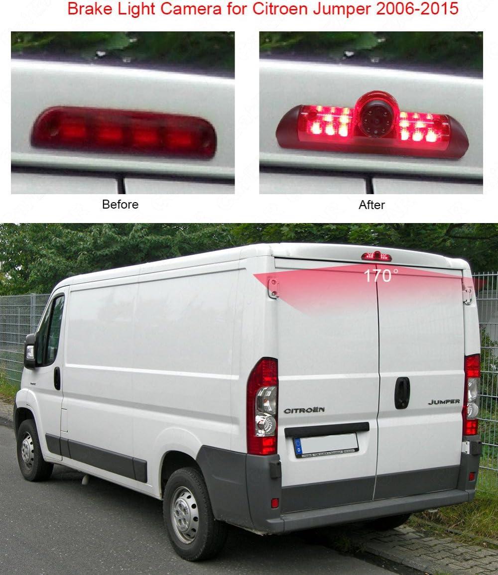 HD CCD Cam/éra de recul 3/ème feu Stop pour Voiture pour Van Fiat Dodg Citroen Jumper III//Fiat Ducato X250//Peugeot Boxer III Avis AVS325CPR 〔Kit de cam/éra de recul〕 Moniteur de r/étroviseur de 4,3