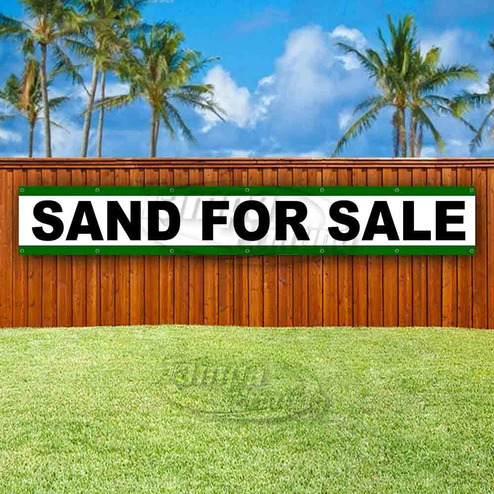 Many Sizes Available Sand for Sale 13 oz Heavy Duty Vinyl Banner Sign with Metal Grommets Store Flag, Advertising New