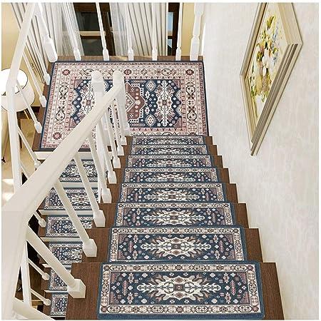 Alfombra de escalera , Autoadhesivas sin Adhesivo Pegatinas Antideslizantes de Escalera de Piso Alfombras Tapetes Protectores,Fácil de limpiar y fácil de limpiar. (Color : Style 1 , Size : 15pieces) : Amazon.es: Hogar