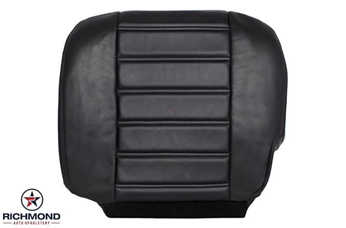 Amazon.com: 2003 - 2007 Hummer H2 Driver Side Bottom Replacement Leather Seat Cover, Black: Automotive