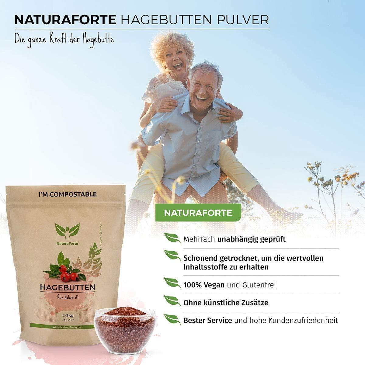 NaturaForte Polvo de rosa mosqueta 1kg en oferta