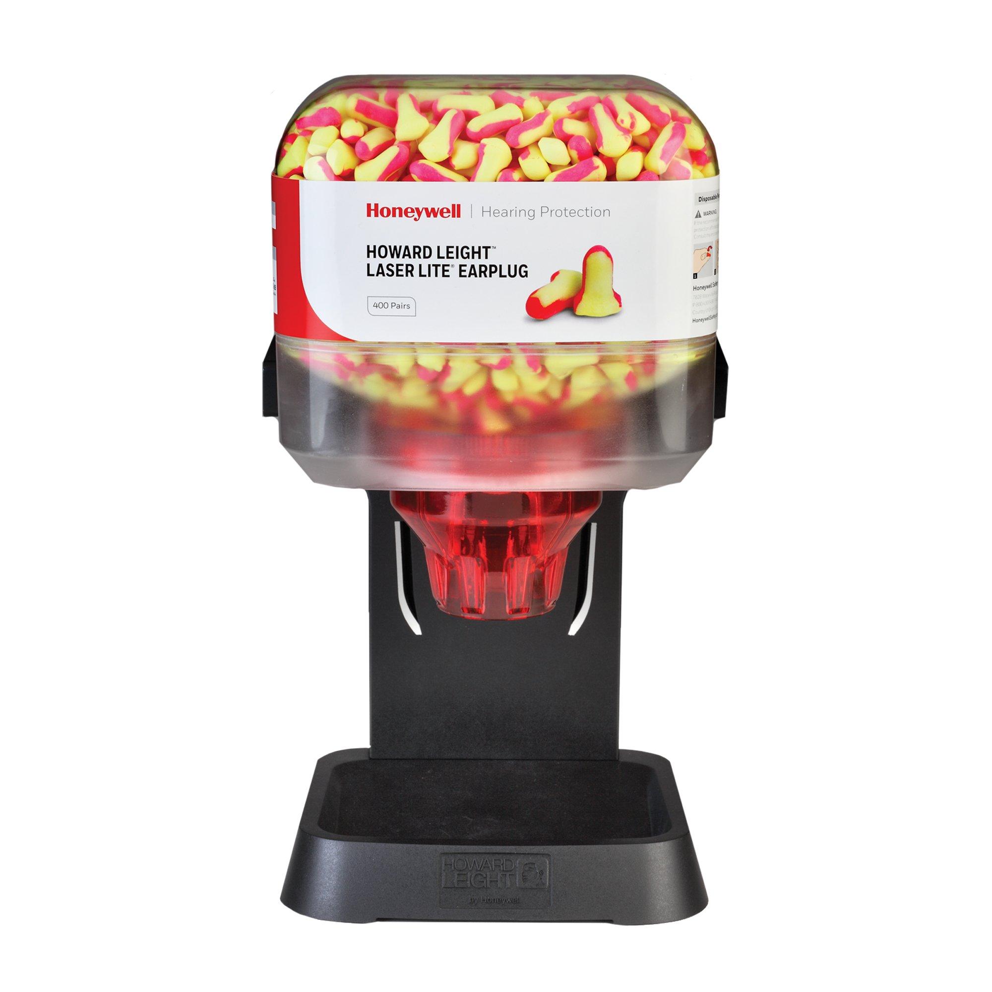 Howard Leight HL400 Earplug Dispenser with 400 Pairs of Laser Lite Hi-Visibility Earplugs