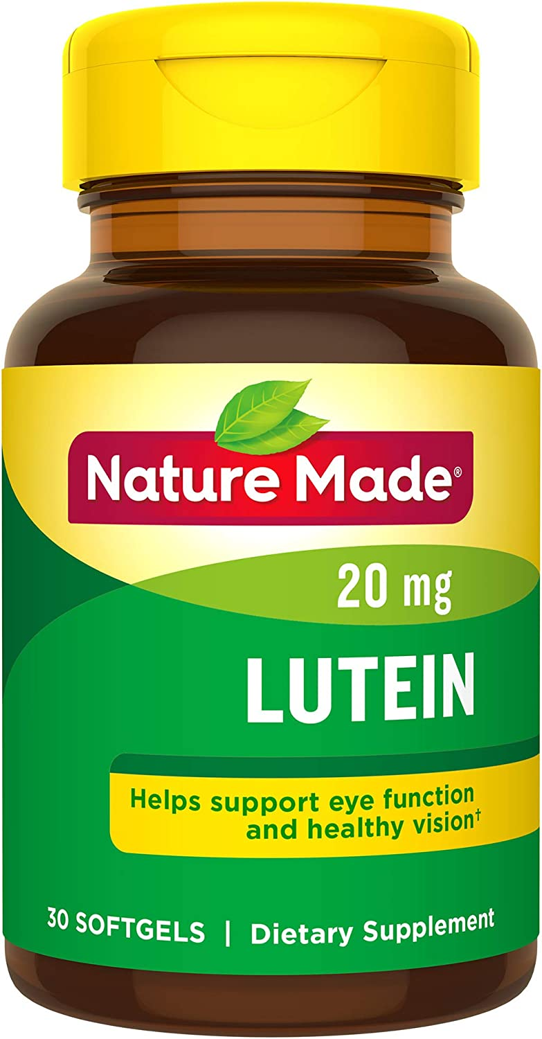 Nature Made Lutein 20 mg Softgels, 30 Count for Eye Health† (Pack of 3)