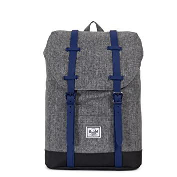 Amazon herschel supply co retreat youth raven crosshatch retreat youth raven crosshatchblackblueprint rubber malvernweather Image collections