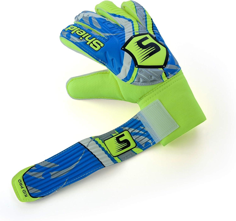 Shield Goalkeeper Goal Keeping Goalie Gloves Kids Junior PRO-X