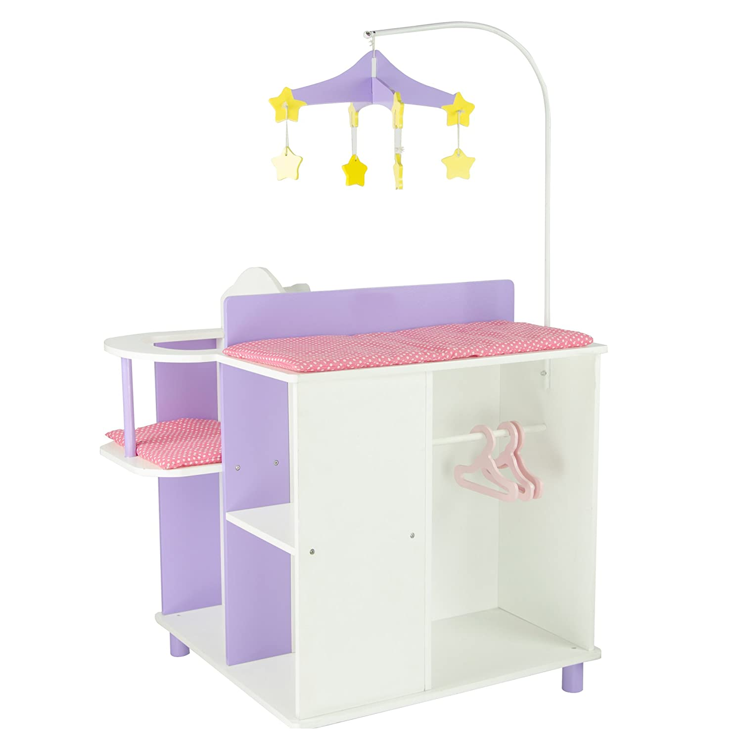 Amazon.com: Oliviau0027s Little World   Princess Baby Doll Furniture   Baby  Changing Station With Storage (White) | Wooden 18 Inch Doll Furniture: Toys  U0026 Games