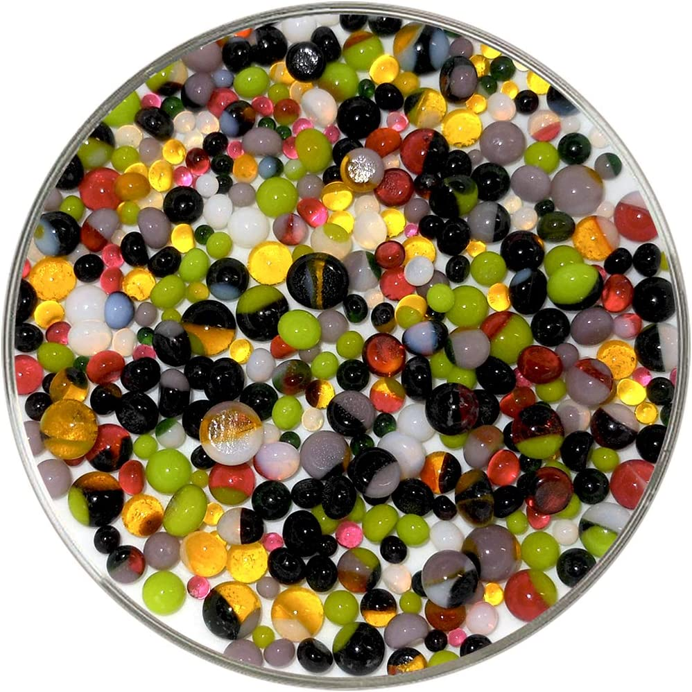 90COE Made from Bullseye Glass by New Hampshire Craftworks Mardi Gras Designer Collection Mix Frit Balls New Larger 1oz Size