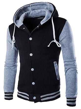 YouzhiWan007 New Men/Boy Baseball Jacket Men New Fashion Design Wine Red Mens Slim Fit
