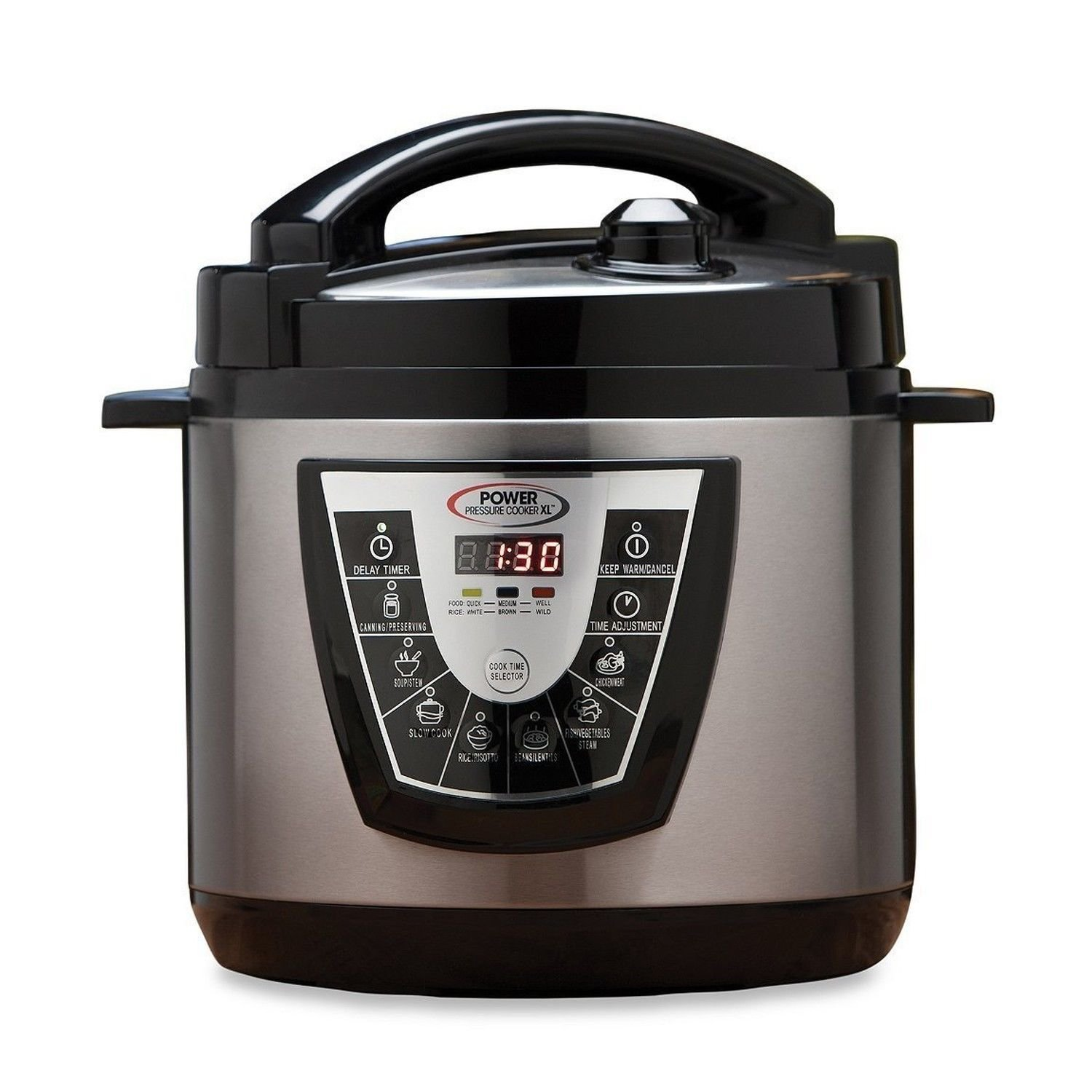 Amazon: Power Pressure Cooker Xl 6 Quart  Silver: Kitchen & Dining