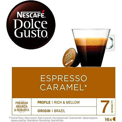 NESCAFÉ Dolce Gusto Espresso Caramel, Cápsulas de Café - 16 cápsulas de café x 5.2 g (Total: 83.2 g)