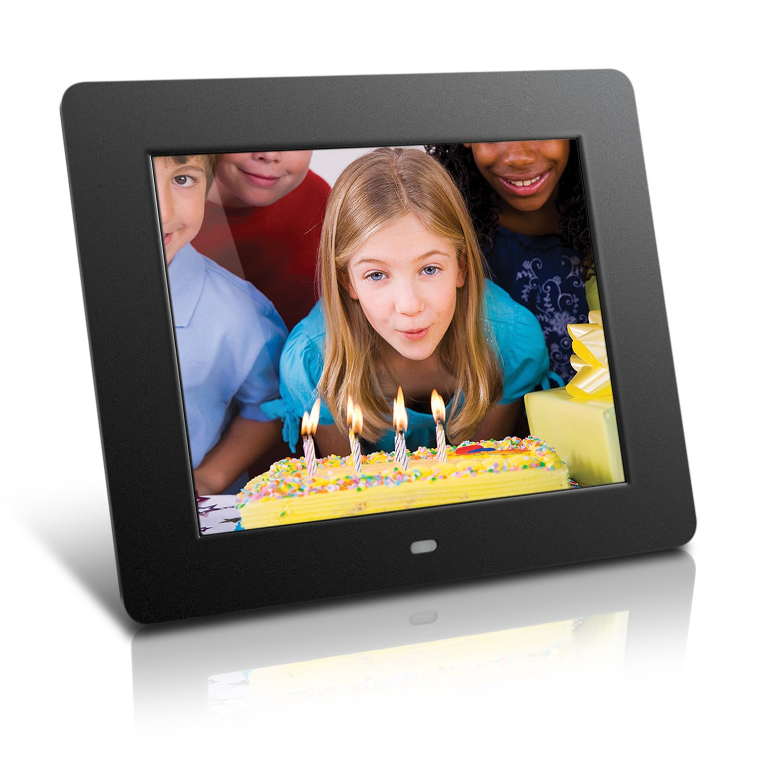 Aluratek (ADMPF108F) 8' Hi-Res Digital Photo Frame with 4GB Built-In Memory (800 x 600 Resolution), Photo/Music/Video Support MP3 & Media Players