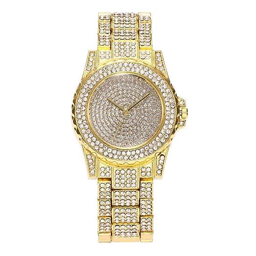 Diseño de lujo lleno de relojes de pulsera de movimiento de cuarzo  brillante de diamantes de imitación Relojes de pulsera de mujer elegante de  mujer de ... cd87fda182e8